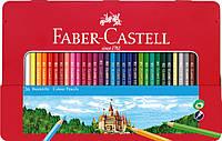 """Карандаши цветные Faber-Castell 36 цветов """"Замок"""" в металлической коробке, 115886"""