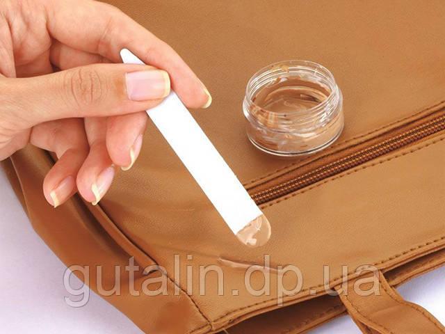 Устранение царапин, разрывов, трещин на сумках и других изделиях из кожи