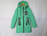 Подростковая куртка девочка весна 128-152 мятная
