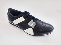 Кожаные польские мужские черные спортивные туфли 41р