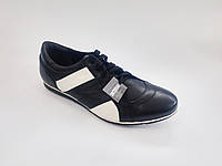 Кожаные польские мужские черные спортивные туфли 43р