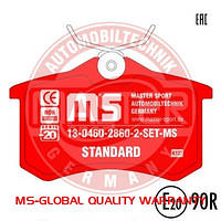 13-0460-2860-2-SET-MS Комплект тормозных колодок, дисковый тормоз, MASTER-SPORT