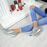 Кожаные слипоны Comfort с жемчугом  Серебро (Украина), фото 5