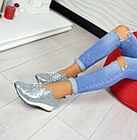 Кожаные слипоны Comfort с жемчугом  Серебро (Украина), фото 6