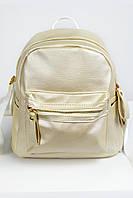 Рюкзак женский из эко-кожи кремовый