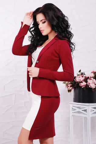 71f2ae24f34 Стильный деловой пиджак с длинным рукавом бордовый - купить по ...