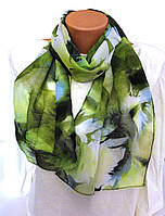 Шарф шифоновый зеленый