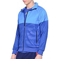 Олимпийка спортивная мужская adidas UFB Track J AC6194 (синяя, полиэстер, с молнией, логотип адидас на рукаве)