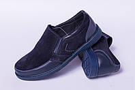Туфли подростковые из натуральной замши от производителя модель ДТ - 02