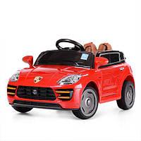 Детский электромобиль Porsche M 3588 EBLR-3: 50W, кожа, EVA, 2.4G - КРАСНЫЙ - купить оптом, фото 1
