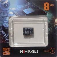 Карта памяти micro SDHC Hi-Rali 8GB class 4 (без адаптера), фото 1