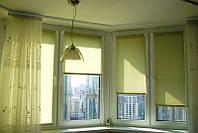 Рулонна  штора 400х1700 (тканинна ролетка) LAZUR Salat 2073