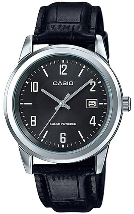 Мужские наручные часы Casio MTP-VS01L-1B2DF черный от солнечного аккумулятора