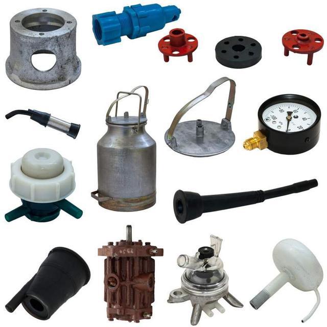 Запасные части и компоненты для доильного оборудования.