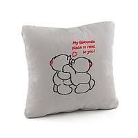 Подушки любимым «Люблю быть рядом с тобой» флок/ подушка сувенирная подарочная