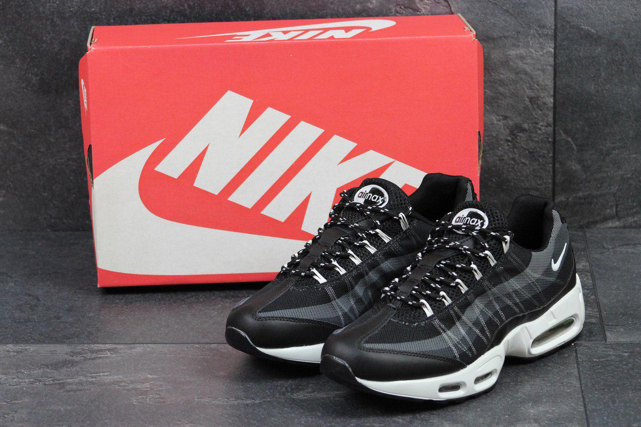 Мужские кроссовки Nike 95 (черно-белые), ТОП-реплика
