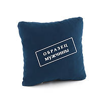 """Подушка подарочная для мужчин """"Образец мужчины"""" флок/ подушка сувенирная"""