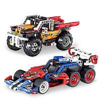QUNLONGСборкаBulidingBlockPullbackRacing Авто Модель для детей Дети Рождественские подарки Игрушки