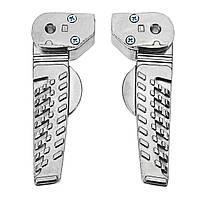 CNC Алюминиевая серебристая задняя подставка для ног Левая правая задняя педаль мотоцикл Ножные штыри для GTC RSZ