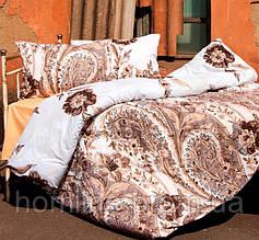 Постельное белье Lotus Premium Madeleine кофейное семейный размер (2 пододеяльника)