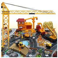 200PCSИнженернаястроительнаяплощадкаСцена,модельный набор для детей Детские рождественские игрушки
