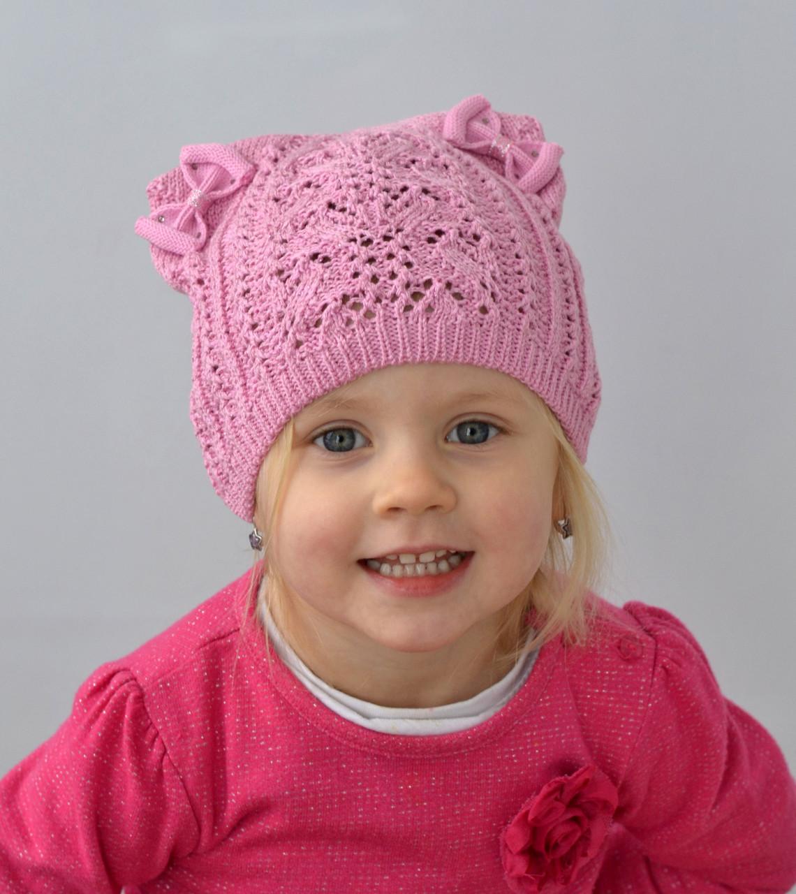 Очень красивая шапка кошечка для девочки