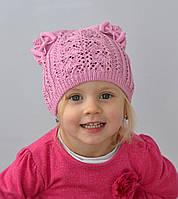Очень красивая шапка кошечка для девочки , фото 1