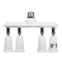 360 градусов Регулируемая E27 до 4 E27 Лампочка Разъем Адаптер Splitter AC110-230V