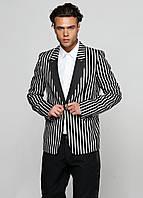 (Уценка) Пиджак мужской DIESEL Black Gold цвет черно-белый размер 48 арт (УЦ)00SHH6