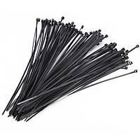 1000 штук Массовые кабельные стяжки Zip Ties Black 5mm x 300mm Nylon Связи