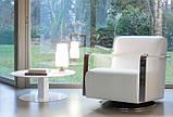 М'яке поворотне крісло з хромованими підлокітниками ELLE фабрика ALBERTA (Італія), фото 3