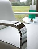 М'яке поворотне крісло з хромованими підлокітниками ELLE фабрика ALBERTA (Італія), фото 4