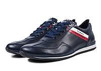 Кроссовки мужские кожаные синие