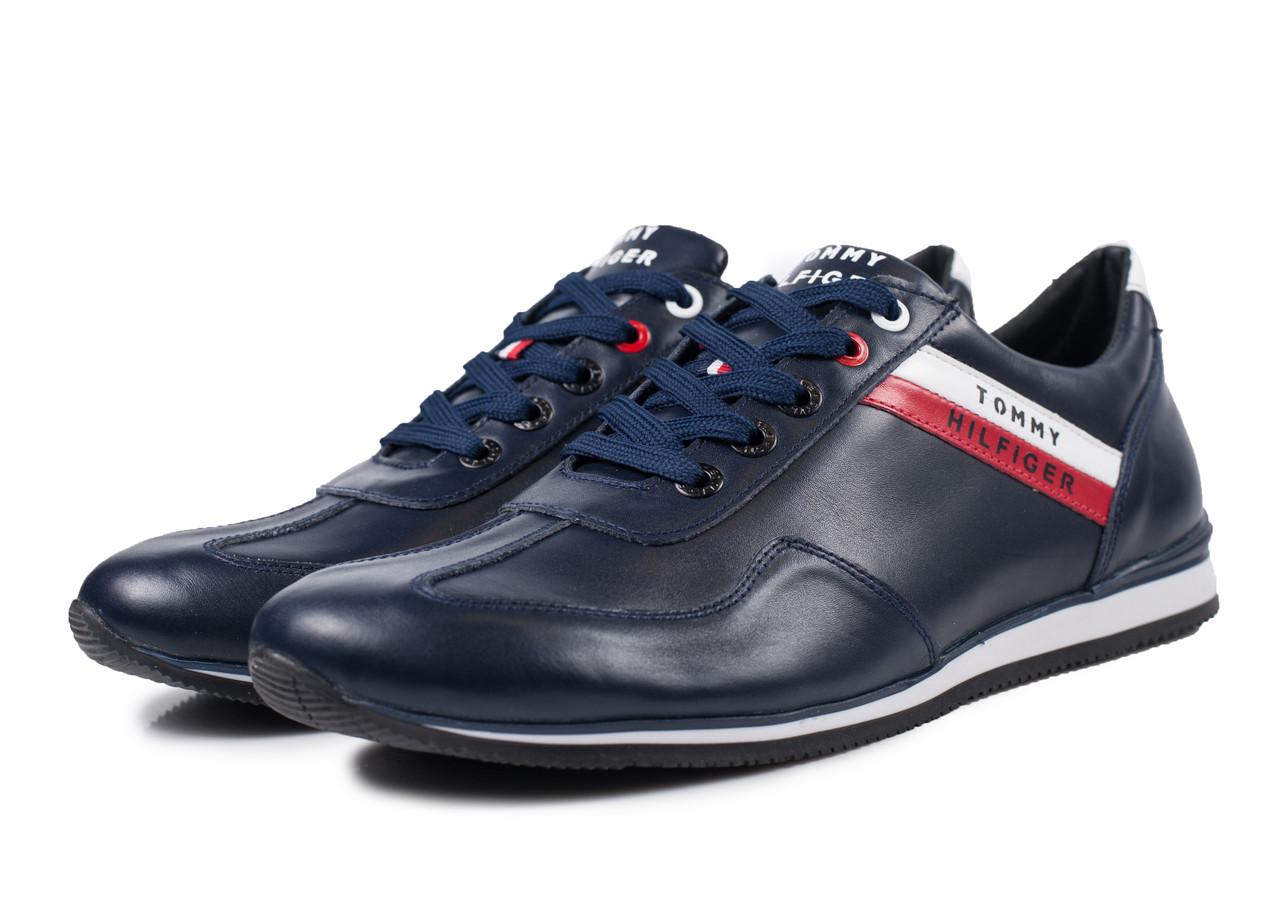 Кроссовки мужские кожаные синие - Первый обувный Харьков в Харькове