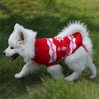 РождественскаяснежинкаPetСобакаКотОсенний зимний свитер Теплый пуловер Толстовка с капюшоном Костюм