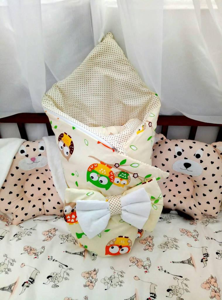 Конверт-одеяло двухсторонний на выписку