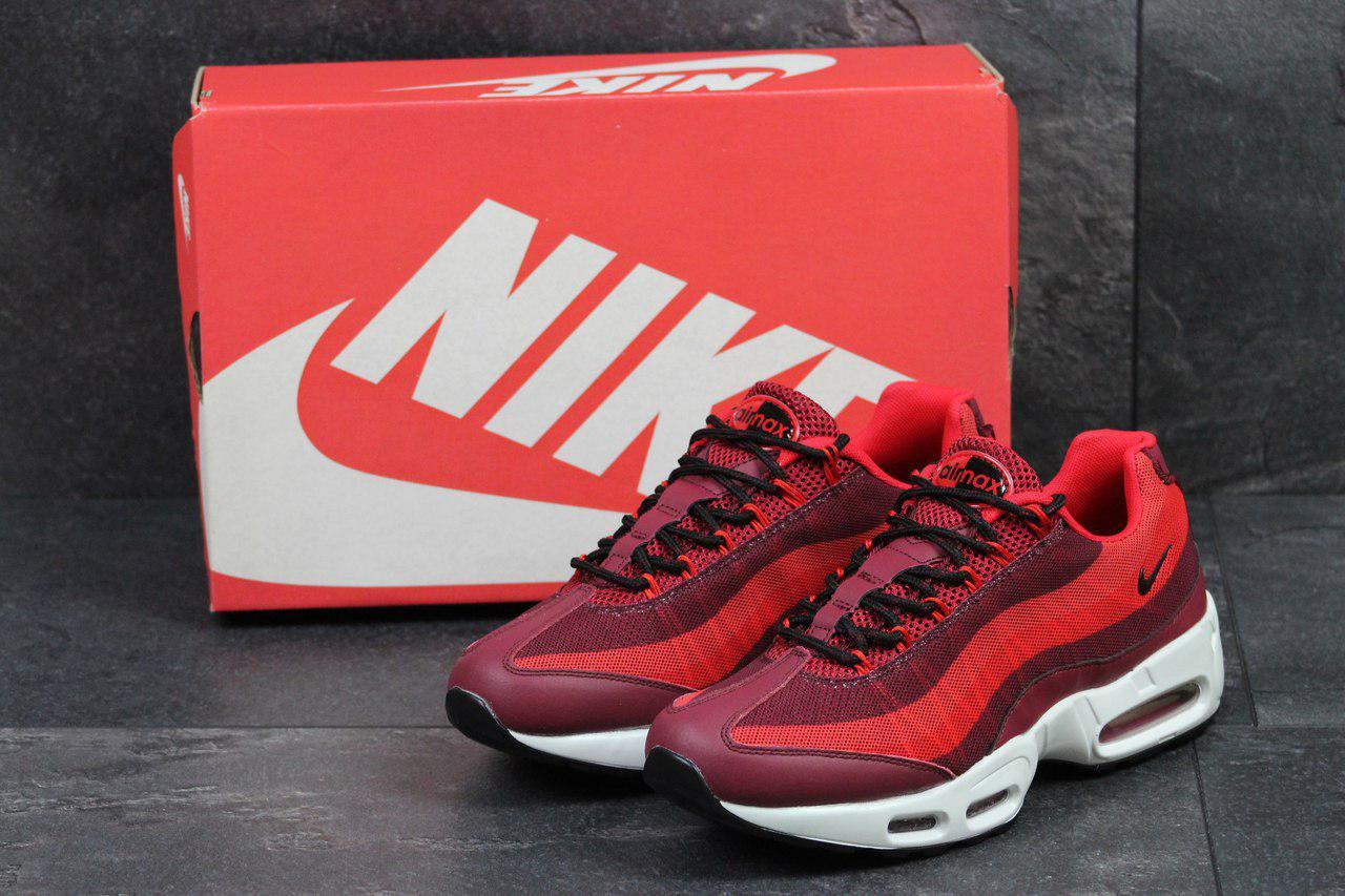 Чоловічі кросівки Nike 95 (бордові), ТОП-репліка