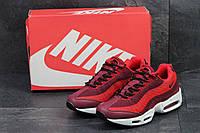 Чоловічі кросівки Nike 95 (бордові), ТОП-репліка, фото 1