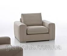 Современное мягкое кожаное кресло WILD фабрика ALBERTA (Италия)