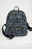 Рюкзак женский из ткани букле синий