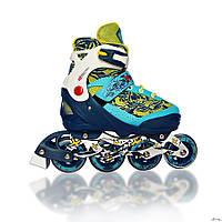 Роликовые коньки ACTIVA girl (голубые, розовые, желтые)