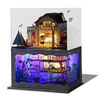 DIY Гавайские виллы Деревянные миниатюрные кукольные домики Набор Творческий подарок на день рождения Рождество