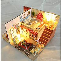 T-Yu TD12 DIY Наборы Sakura Monogatari House со светодиодной+обложкой Модель мебели для дома