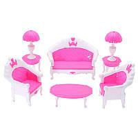 Кукла Набор мебели для дома Миниатюрные пластиковые семьи ребенка играть в гостиной игрушка