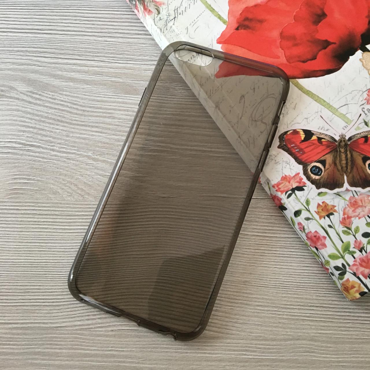 Черный тонкий силиконовый чехол для iphone 6/6S