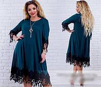 Женское платье свободного кроя с кружевной отделкой, с 48-62 размер