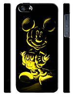 Чехол для iPhone 4/4s/5/5s/5с, Mickey Mouse, Микки Маус неон