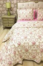 Постельное белье Lotus Premium Caroline розовое двухспальный евро размер