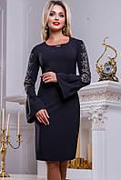 Платье до колен черного цвета Д-557