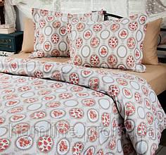 Постельное белье Lotus Premium Daisy бежевое двухспальный евро размер